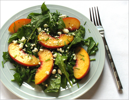 arugula_peach_salad