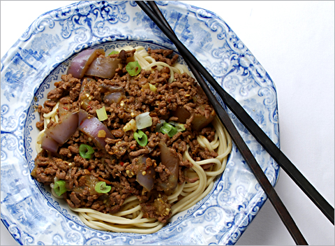 comfort food equivalent of spaghetti with meat sauce recipe below