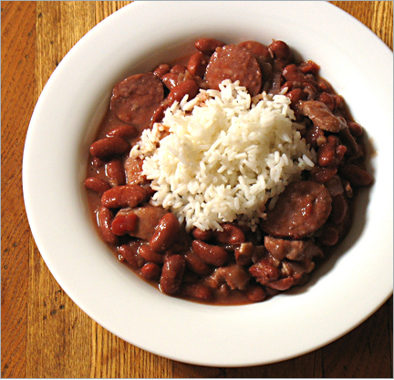 ... version of a New Orleans classic, Red Beans & Rice. Recipe below