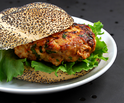 Spicy turkey burgers: A little hot but not haute