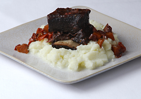 Braised Short Ribs. Buttery-flavored braised short