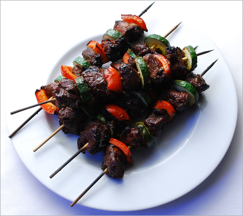 Grilled Goat Kebabs with Pomegranate-Cumin Glaze — Blue Kitchen