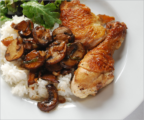 vinegar-chicken-mushrooms