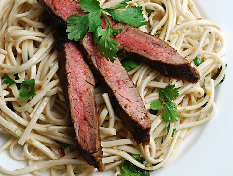 flank-steak-sesame-noodles