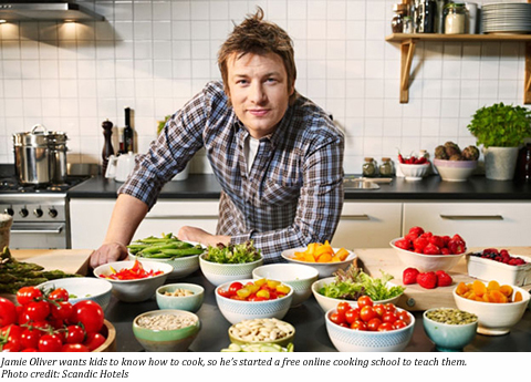 jamie oliver launches jamie s home cooking skills. Black Bedroom Furniture Sets. Home Design Ideas