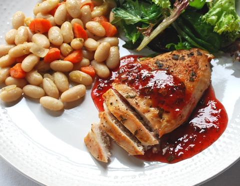 ... and savory: Grilled Chicken with Strawberry Balsamic Vinegar Sauce