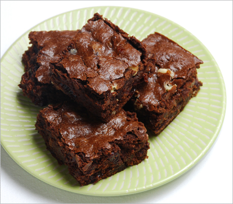 with baked goods is to eat them. Marion made these delectable brownies ...