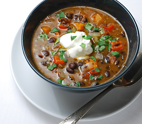 Southwestern antifreeze: lively, hearty Black Bean Soup with Ham Hocks