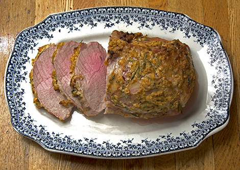 mustard-glazed pork loin roast