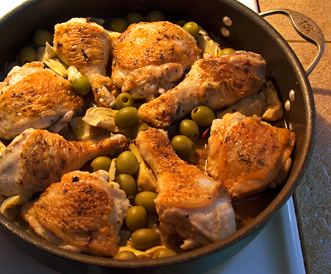 Braised Chicken Legs With Artichokes And Pearl Onions Recipes ...