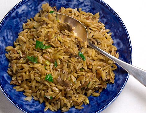 Risotto-style Orzo with Porcini Mushrooms