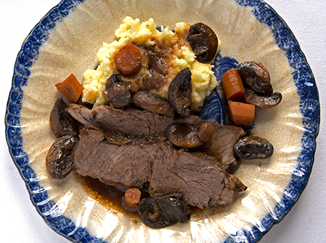 Tangy Pot Roast with Mushrooms