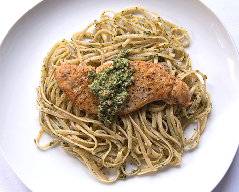 Baked Chicken Breasts Stuffed With Sage-Pecan Pesto And ...