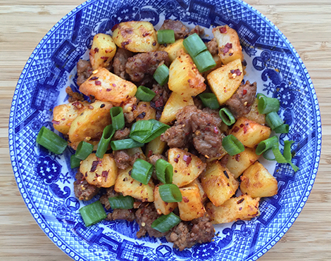 """Old Godmother"" Spicy Potatoes and Pork"