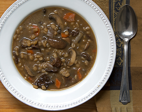 Winter memories and frugal goodness: Mushroom Barley Soup