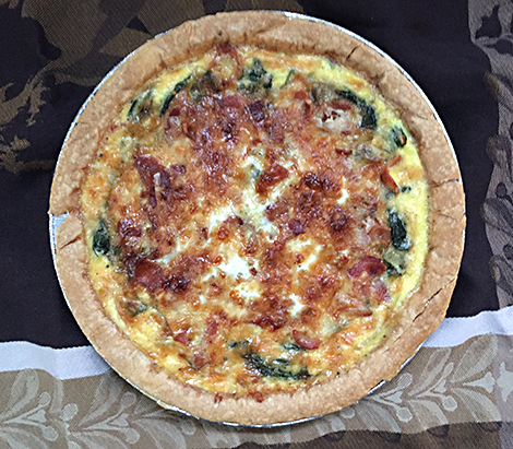 Fresh Spinach and Bacon Quiche