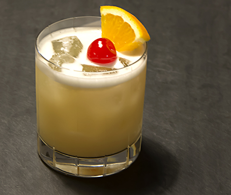 Whisky Sour with an Egg White