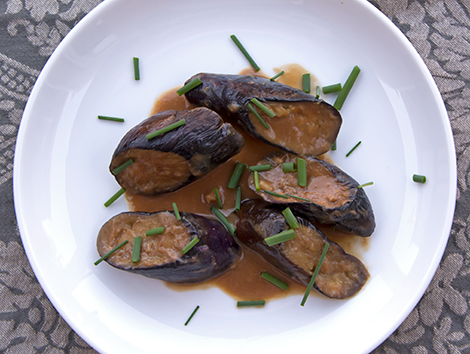 Japanese Eggplant with Miso Sherry Sauce