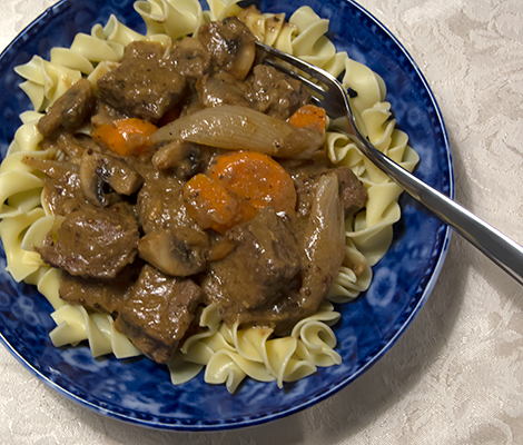 Dijon Beef Stew with Shallots