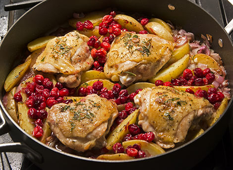 Pan-roasted Chicken with Cranberries