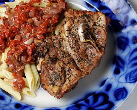 Braised lamb shoulder chops and tomatoes braised lamb chop publicscrutiny Image collections